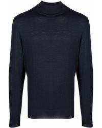 Canali タートルネック セーター - ブルー