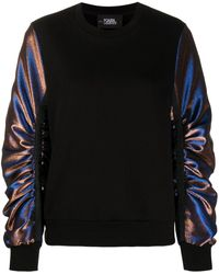 Karl Lagerfeld - Sweat à manches contrastantes - Lyst
