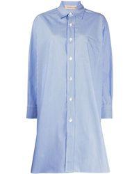 Blanca Vita Aloe オーバーサイズシャツ - ブルー