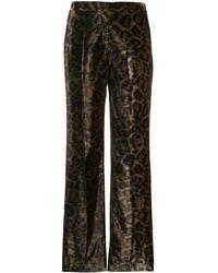 John Richmond Tameside Leopard Print Trousers - Green