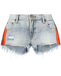 One Teaspoon 'Montana' Jeans-Shorts - Blau