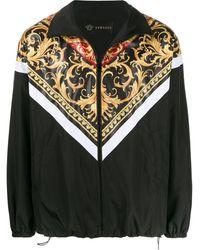 Versace Куртка На Молнии С Принтом - Черный