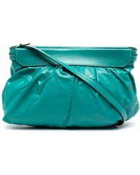 Étoile Isabel Marant Luzes Gathered Clutch Bag - Green
