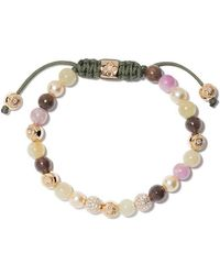 Shamballa Jewels - 18kt Yellow Gold, Diamond & Sapphire Beaded Non-braided Bracelet - Lyst