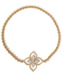 Roberto Coin Princess Flower ダイヤモンド ブレスレット 18kイエローゴールド - メタリック