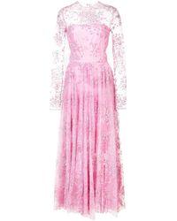 Christian Siriano Vestito decorato - Rosa
