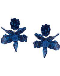 Lele Sadoughi Pendientes Crystal Lily - Azul