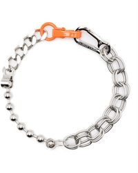 Heron Preston Multi-chain Choker Necklace - Metallic