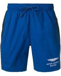 Hackett 'aston Martin Racing' Beach Shorts - Blue