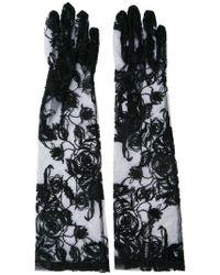 Ann Demeulemeester - Embroidered Fishnet Gloves - Lyst