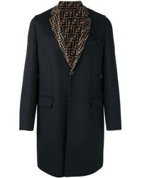 Fendi Ffディテール シングルコート - ブラック