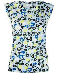 ESCADA Floral print vest top - Blau
