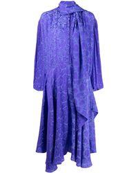 Chloé プリント ロングドレス - ブルー