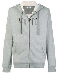 Valentino - Vltn ジップアップ パーカー - Lyst