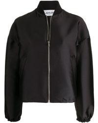 Lanvin オーバーサイズ ボンバージャケット - ブラック
