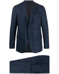 Lardini - チェック ツーピース スーツ - Lyst