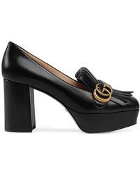 Gucci Décolleté In Pelle Loafers - Zwart
