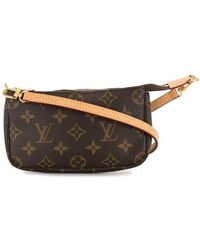 Louis Vuitton 2017 Pre-owned Mini Pochette Accessoires Pouch - Brown