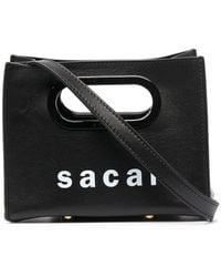 Sacai ロゴ ミニバッグ - ブラック