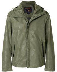 Woolrich - Geometric Patterned Hooded Jacket - Lyst
