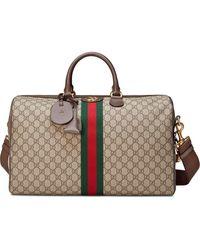 Gucci Reisetasche mit Monogrammmuster - Braun