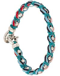 Gas Bijoux Gevlochten Armband - Blauw