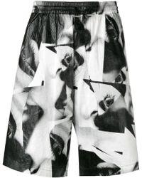 DSquared² Shorts mit Augen-Print - Schwarz
