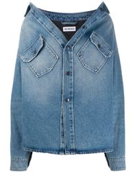 Balenciaga Denim Shirt - Blauw