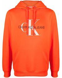 Calvin Klein Худи С Кулиской И Вышитым Логотипом - Оранжевый