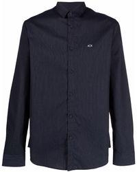 Armani Exchange ロゴ シャツ - ブルー