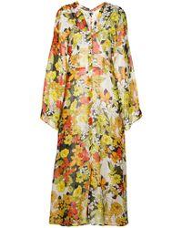 Attico - Floral Print Coat - Lyst