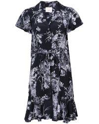 Cinq À Sept - Printed Shirt Dress - Lyst