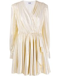MSGM - メタリック ドレス - Lyst