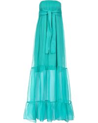 Pinko Strapless Evening Dress - Blue