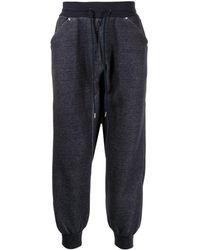 Fumito Ganryu Drawstring-waist Trousers - Blue