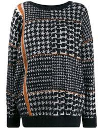 Gentry Portofino ハウンドトゥース セーター - マルチカラー