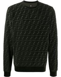 Fendi モノグラム セーター - グリーン