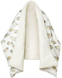 Burberry Capa acolchada con motivo de ostras - Blanco