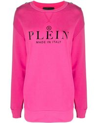 Philipp Plein Толстовка С Логотипом - Розовый