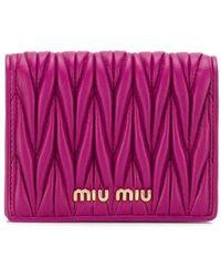 Miu Miu Маленький Стеганый Кошелек - Пурпурный