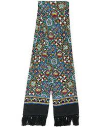 Dolce & Gabbana Sjaal Met Print - Zwart