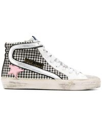 Golden Goose Deluxe Brand - Checked High Top Sneakers - Lyst