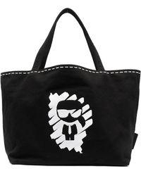 Karl Lagerfeld K/ikonik Graffiti ハンドバッグ - ブラック