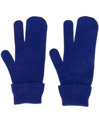 Maison Margiela Gants à trois doigts - Bleu