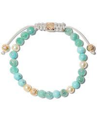 Shamballa Jewels - 18kt Yellow Gold, Diamond & Emerald Beaded Non-braided Bracelet - Lyst