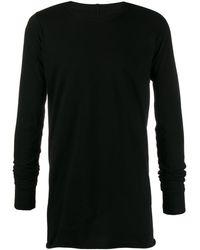 Rick Owens ロングtシャツ - ブラック