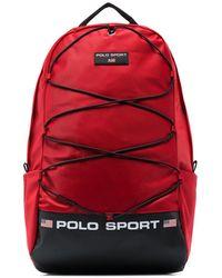 Polo Ralph Lauren Logo Print Backpack - Red
