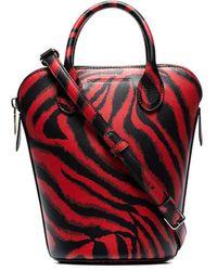 CALVIN KLEIN 205W39NYC Red Dalton Mini Tiger Print Leather Bucket Bag