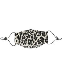 Mostly Heard Rarely Seen Cheetah Print Face Mask - Black