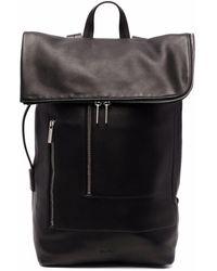 Rick Owens Duffle Leather Backpack - Black